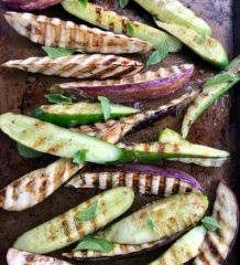 Grilled Marinated Cucumbers and Eggplant